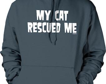 My Cat Rescued Me Hooded Sweatshirt, NOFO_00561