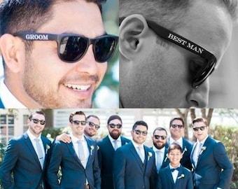 Set of 8 Printed Wedding Sunglasses! On Sale! Groom Sunglasses, Bride Sunglasses, Groomsmen Sunglasses, Wedding Sunglasses, Wedding Party