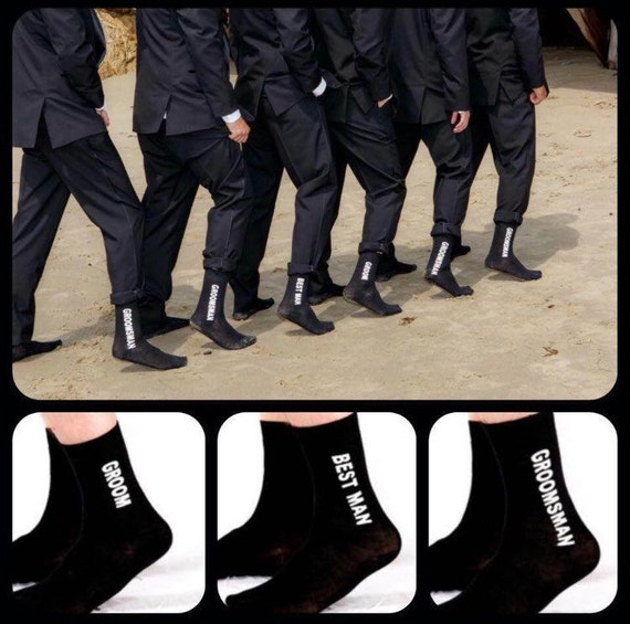 1 Pair Mens formal Black Wedding Socks One size 7-12 us Best Man
