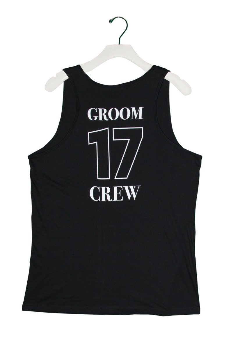 07a3349870a4f GROOM CREW Tank Top Jersey Bachelor Party Tank