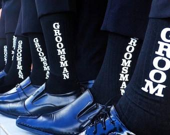 Printed Wedding Party Socks - Groom Socks, Best Man Socks, Groomsman Socks, Groomsmen Socks, Wedding Socks, Groomsmen Gift