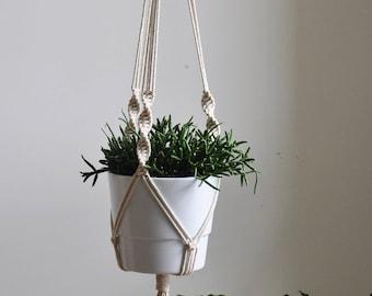 hanging planter, macrame rope plant holder, macrame planter, indoor wall planter, cotton wall planter, indoor plant hanger, yanyula macrame