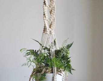 Macrame plant hanger, Cotton rope macrame, Modern home decor, Indoor garden pot hanger, Boho decor, Macrame plant holder, Hanging plant