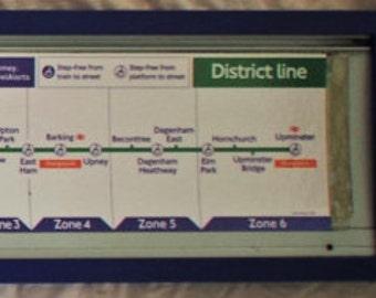 Original London Underground Train Route map, District Line