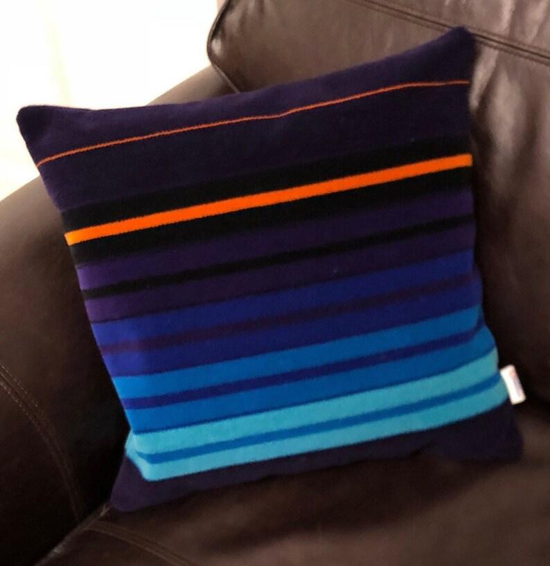 Cushion British Rail 1980s First Class Seat Moquette Fabric