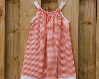 Orange Pillowcase Dress