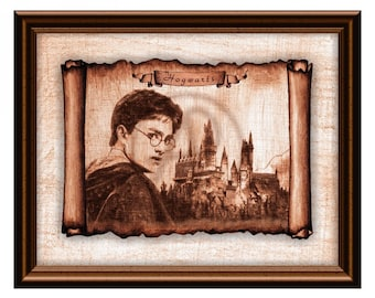 photo relating to Hogwarts Portraits Printable identify Hogwarts Castle Rolls Parchment Harry Potter Artwork DecorHarry