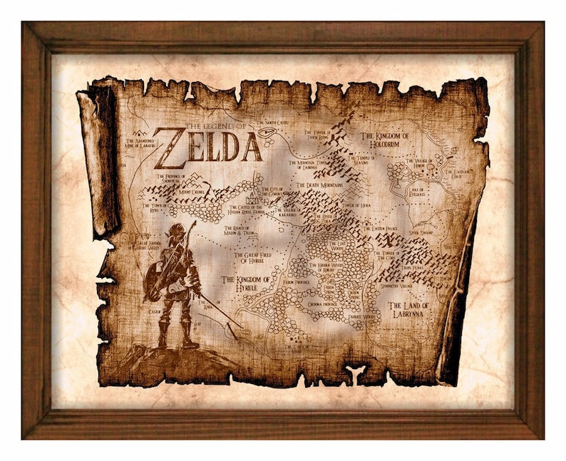 photo regarding Printable Legend of Zelda Map referred to as Zelda Rustic Map Artwork Print-Breath of the Wild,Legend of Zelda Artwork Map,Hyrule Map,Myth Map,Zelda Printable,Immediate Obtain,Wall Artwork,Decor