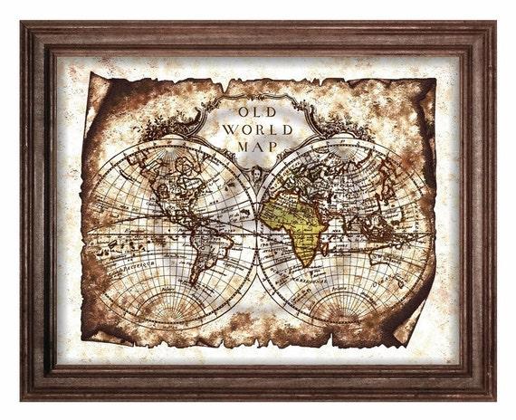 Grunge of world map art decorantique world map printableold gumiabroncs Gallery
