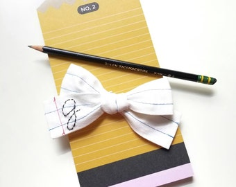 Back to school Bows, Personalized letter (Special custom Listing 1 Bow)