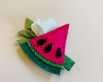 Watermelon slice Headband or hair clip, girl hair accessories, Fruits headbands