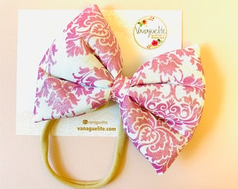 Valentine's Day Puffy Bow, Oversized 3D Bow, Nylon Headbands or Hair Clip