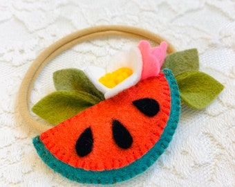 Watermelon Headband, baby hair accessories, Fruits headbands