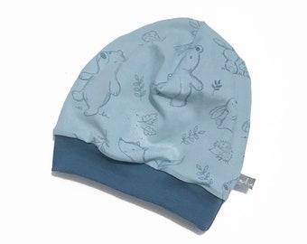361ff595351 Beanie Baby Kids   Light Blue Forest Animals   Hat Jersey