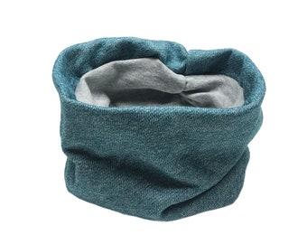 Loop scarf baby kids *winter sweat petrol* jersey scarf boy