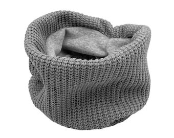 Loop scarf *chunky grey* baby kids boy girl