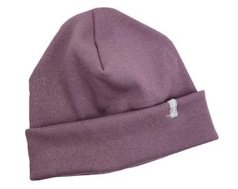 Beanie Hat *mauve Rib* Hipster Baby Kids Girl