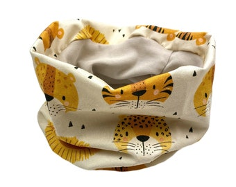 Loop Scarf *sand tiger lion* Jersey baby kids boy