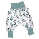 Baby Pants *mint Autumn Flowers* Baby Pants Jersey Girls
