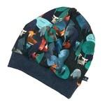 Beanie Baby Kids *dark blue forest animals* Jersey beanie