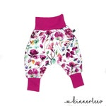 Baby Pants *pink Flowers* Baby Pants Jersey Girls