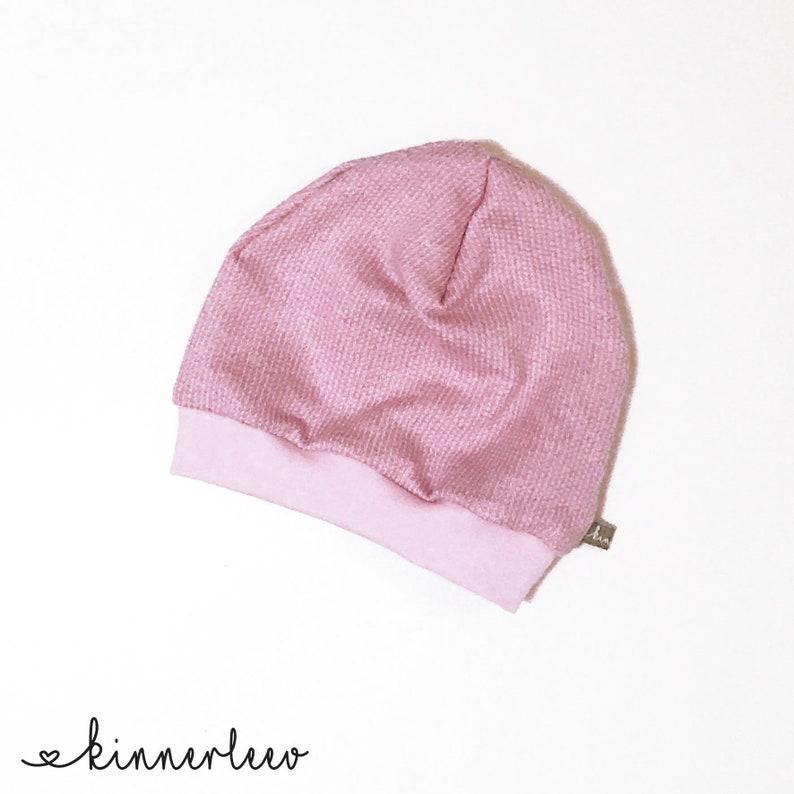 18fa3d4242a6a8 Beanie Baby Kinder Strick rosa-meliert Mütze Mädchen | Etsy
