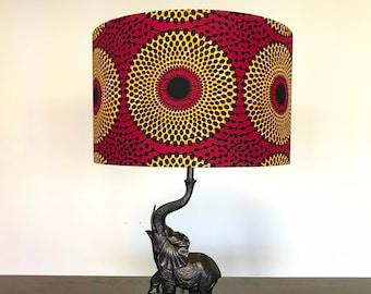 handmade lampshade handmade boho home decor cylindrical lampshade mudcloth print lampshade Large African print drum lampshade
