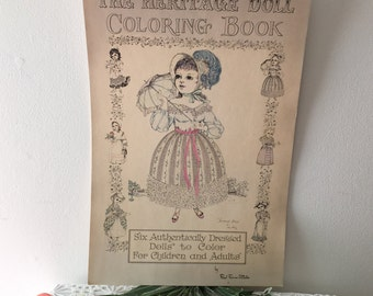 Kim\'s The Heritage Doll Coloring Book by Red Farm Studio | Etsy