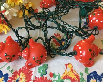 Vintage Cheerful Red Teapots String Lights