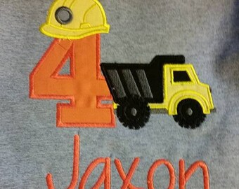 Construction Custom Birthday Shirt