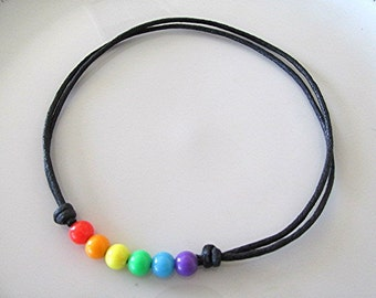 LGBT choker necklace gay pride choker rainbow choker gay pride jewelry gay pride necklace vegan grunge boho hippie gay gift.