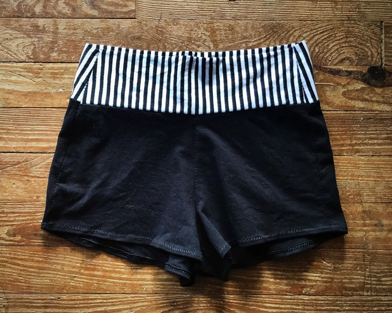 Fire Safe Stretch Cotton Circus Stripe Yoga Shorts Choose your Size
