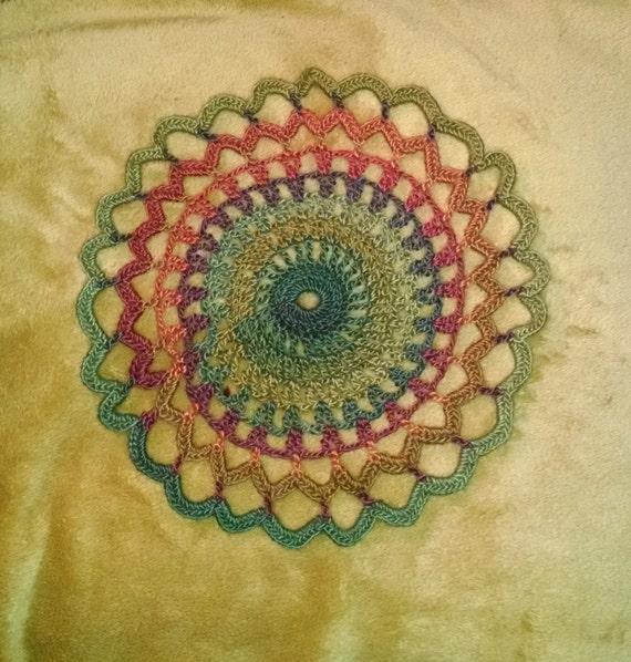 Doily Mandala Crochet Pattern Flower Granny Square Beginner Etsy