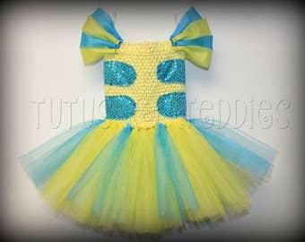 Flounder / Costume / tutu / child / toddler / baby / newborn / Halloween / Ariel / The Little Mermaid/ Prop / Fish / dress / Disney & Flounder costume | Etsy