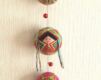 Hanging Decor Japanese-style Handmade Temari Ball Japanese Girl Gift