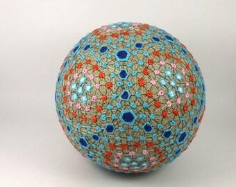 Cadeau fait à la main décor boule japonaise de Temari