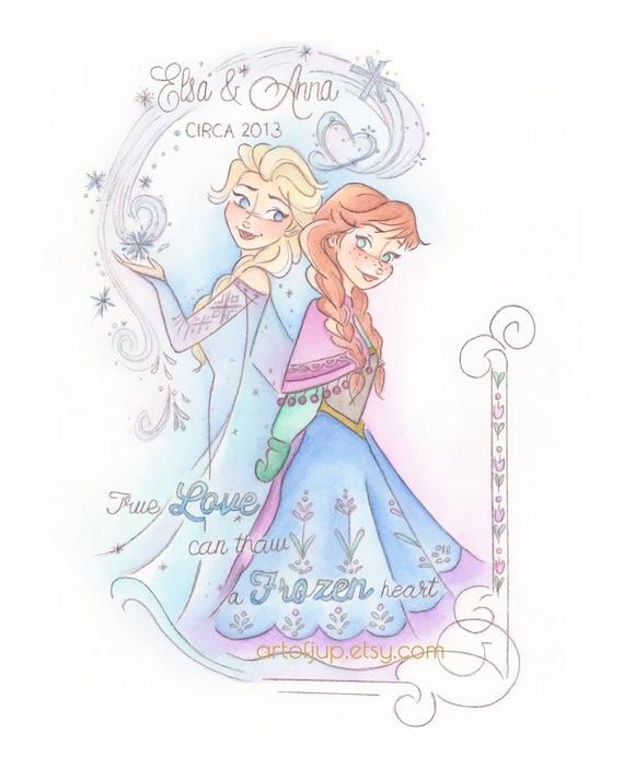 DISNEY congelato Elsa Anna Ragazze Felpa