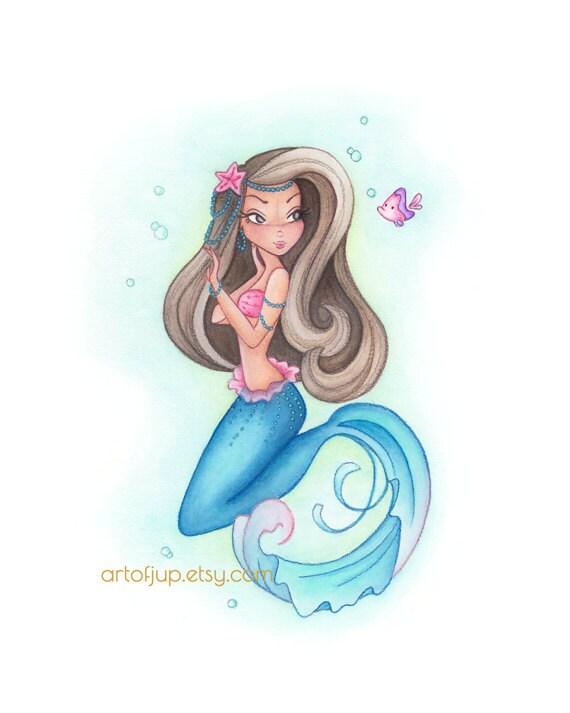 Mermaid Art Print Decor Aryana Wall