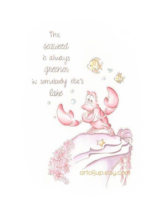 The Little Mermaid Sebastian Art Print Home Decor Poster