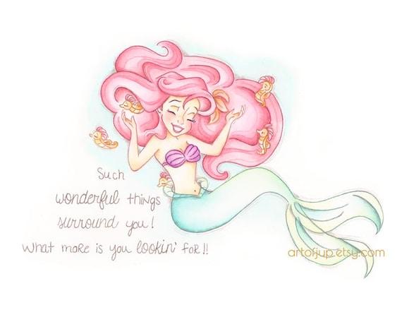 The Little Mermaid Disney Ariel Print Home Decor