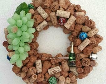 Ecofriendly wine cork wall decoration