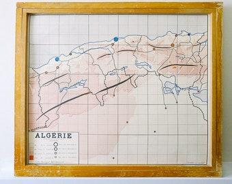 Able 1875 Map West Africa Sahara Algeria Morocco Guinea Canary Islands Tripoli Antiques