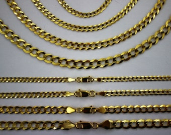 14K Two-Tone Gold 2.50mm Cuban 060 Pave Chain