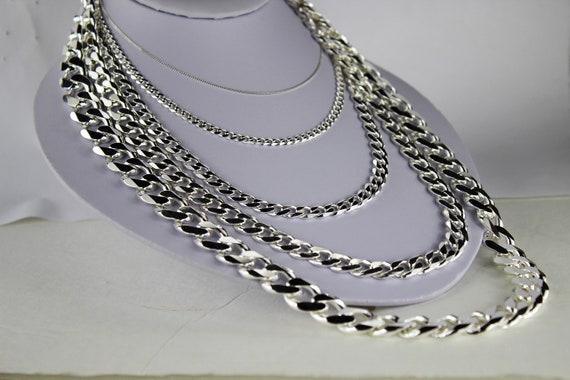"Men Women .925 Sterling Silver 1.5mm Cuban Link Chain Necklace Size 16/""-36/"""