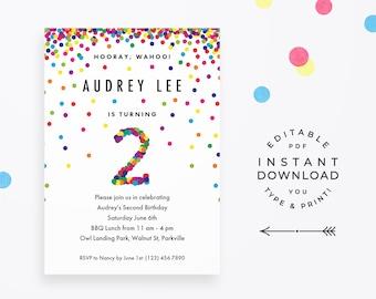2nd Birthday Invitations Boy Invite Etsy