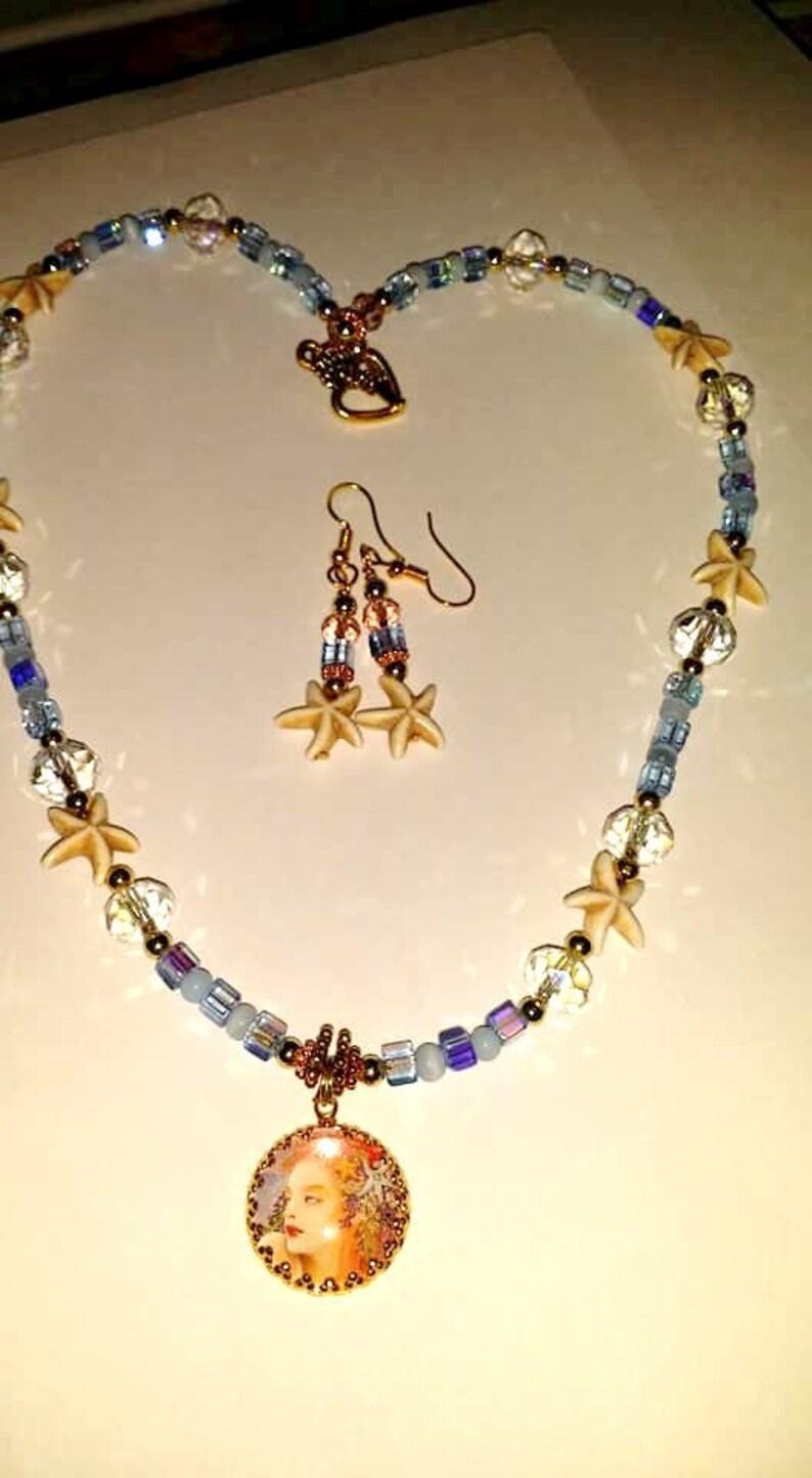 Mermaid Splendor NecklaceEarrings Set