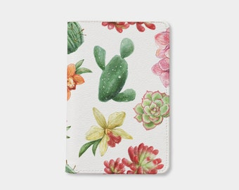 Valentine day Cactus passport holder leather,personalized passport cover,cute passport cover,birthday gift,leather passport holder