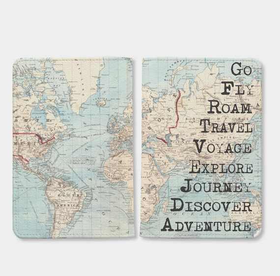 World Map Passport Holder.Christmas Sale Travel World Map Passport Holderpersonalize Etsy