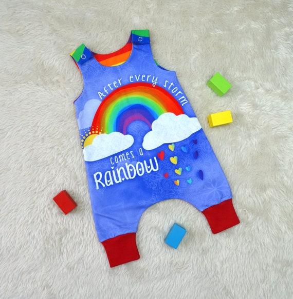 407378790 Rainbow Baby Romper rainbow romper newborn romper girls