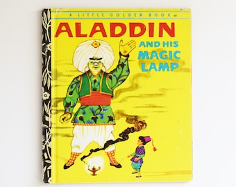 Vintage Children's Book - Little Golden Book -Aladdin and his Magic Lamp -  1973 Edition
